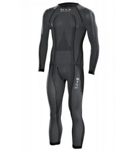 Sous combinaison intégrale SIXS black Carbon Underwear |4 saisons