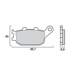 Plaquettes frein arriere Yamaha YZF-R6 06-  | Brembo SP
