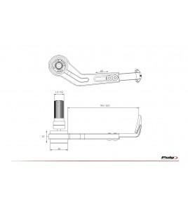 Protection levier de frein universelle | Puig