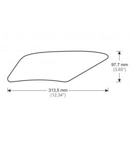 Grip de réservoir noir Yamaha YZF-R6 17- | One Design by Puig