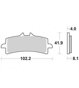 Plaquettes AP RACING Honda CBR1000RR-SP 20- | METAL FRITTE LMP501SRR