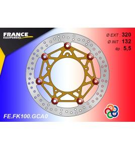 Disque de frein avant racing Yamaha YZF-R1 / R6 | France Equipement FK100