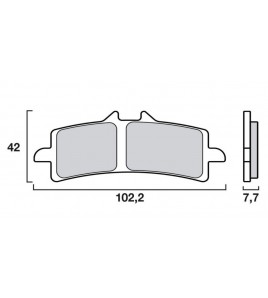 Plaquettes avant origine OEM HONDA CBR 1000 RR/SP 2020-