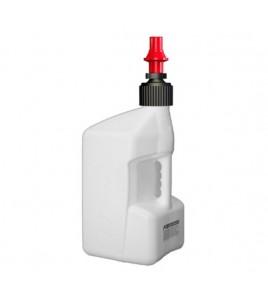 Bidon d'essence TUFF JUG 20L blanc translucide/bouchon rouge - bouchon remplissage rapide