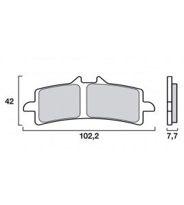 Plaquettes pour etriers Brembo M4 M50 GP4-RS GP4-RX 484 café racer