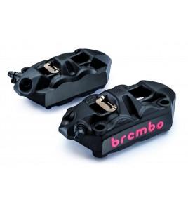 Pack 2 Etriers Brembo M4 noir monobloc moulés 100mm